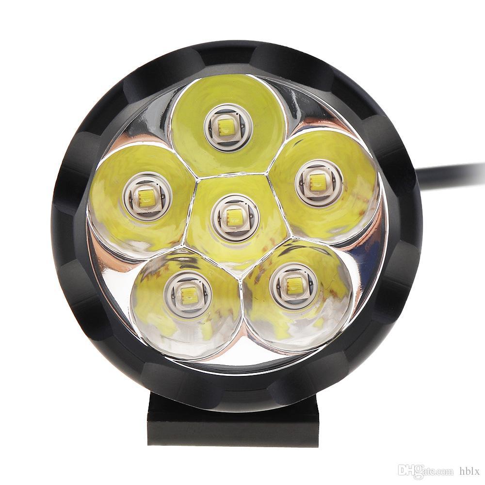 12V 60W 10000LM phare de projecteur de puissance élevée avec 6 perles de lampe CREE à LED pour moto MOT_21B