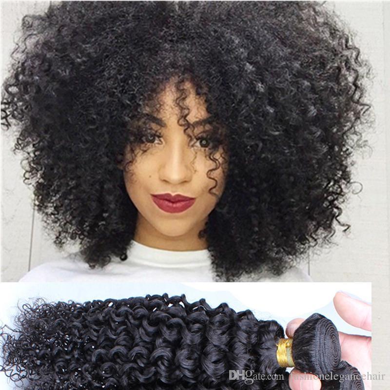 7a Kinky Curly Hair Brazilian Malaysian Mongolian Kinky Curly Hair