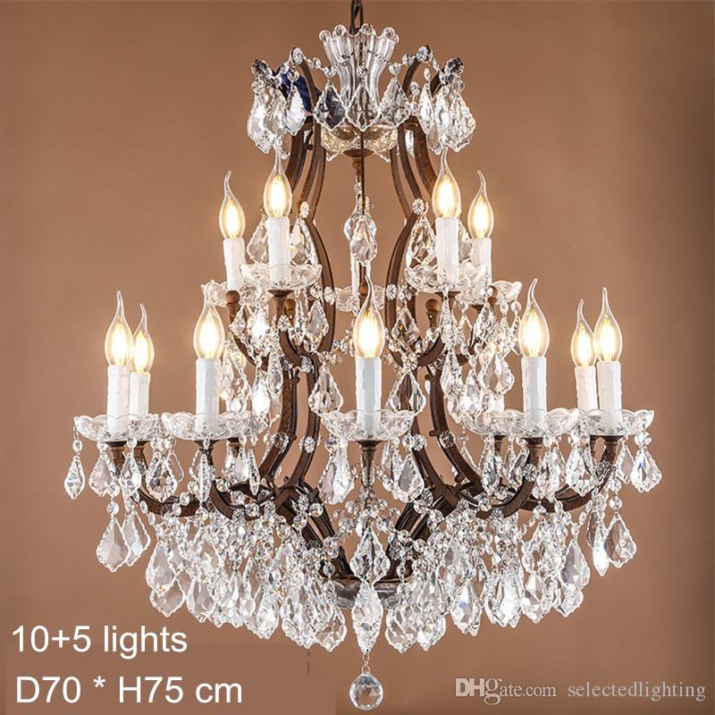 Maria Theresa Kristal Avize Lambaları E14 E12 Led Candela Ampul Işıkları Büyük Kristal Lamba Rustik Loft Endüstriyel Aydınlatma 120 V 240 V