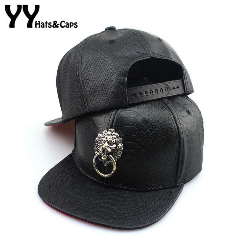 Fashion New Design Lion Ring Cap PU Leather Snapback Cap Punk Baseball Hat  For Men Women Sport Hip Hop Hats Gorras Bone YY60512 Caps Online Hats And  Caps ... f307cf42d23