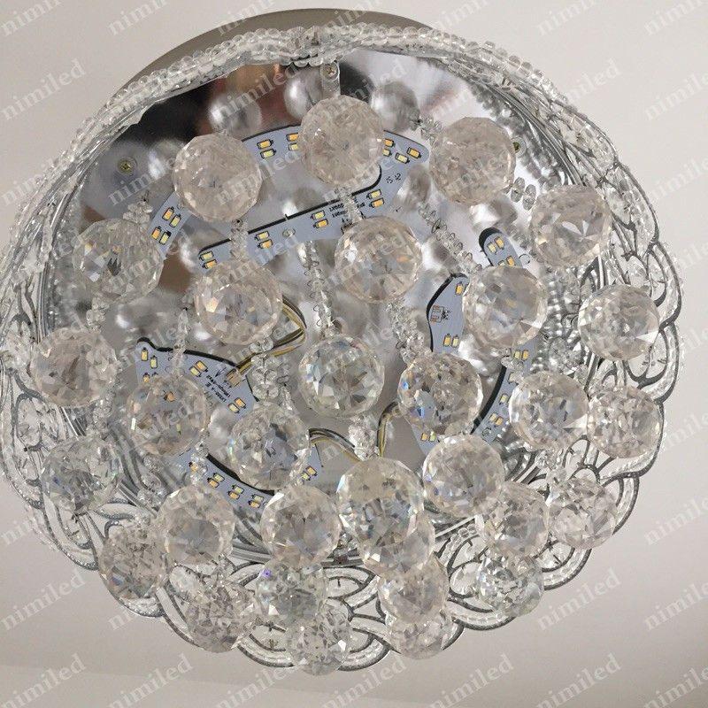 nimi883-1 42 인치 106m 보이지 않는 크리스탈 빛 천장 팬 LED 램프 실내 팔러 천장 조명 펜던트 조명 원격 제어