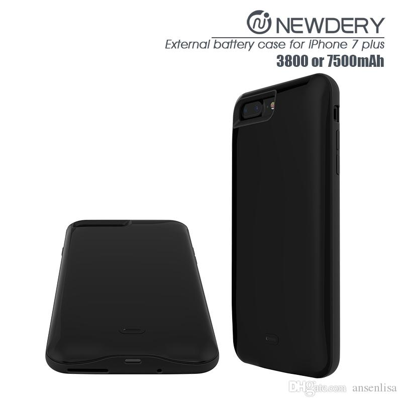 Wholesale hot selling mobile phone cover 3800mah battery case for iphone 7 plus wireless power bank promotion product with retail package