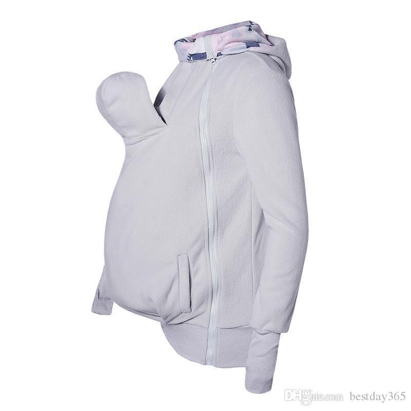 Bebek Taşıyıcı Hoodie Kanguru Hoodies Kadın Tişörtü Coat Hamile Kadınlar Için Sarılın Kese Ile Hoodie Kadın Coat
