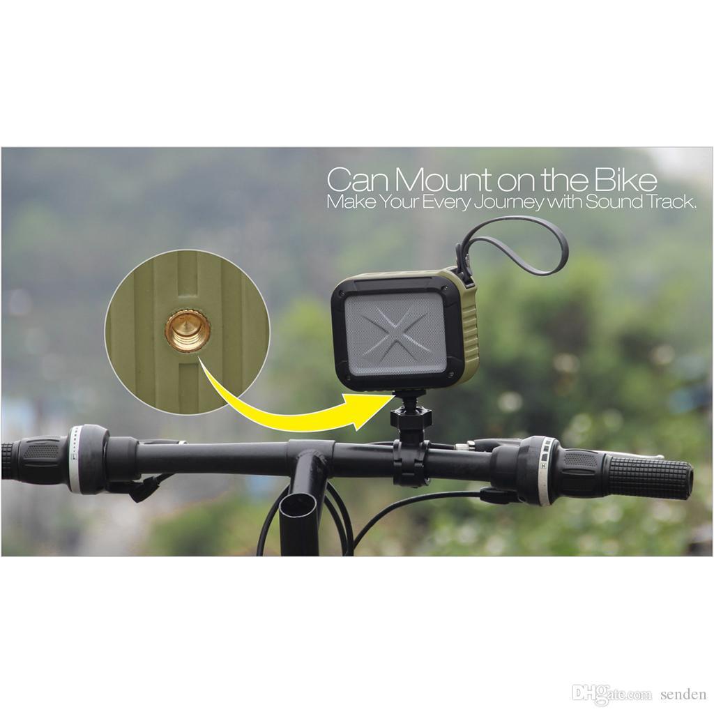 Deportes W-King IPX6 Impermeable Bluetooth S7 Altavoz Bicicleta Al Aire Libre Aparato Inalámbrico NFC TF Tarjeta Play Play Play Mano libre Mic Ducha Riding Subwoofer