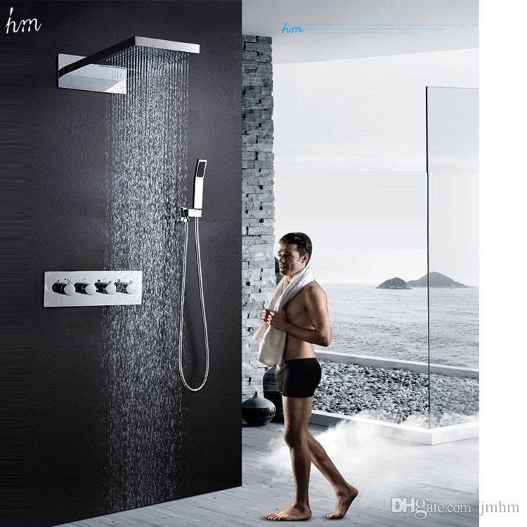 2018 Multi Function Led Shower Set Large Size 22 Inches Hot Cold ...