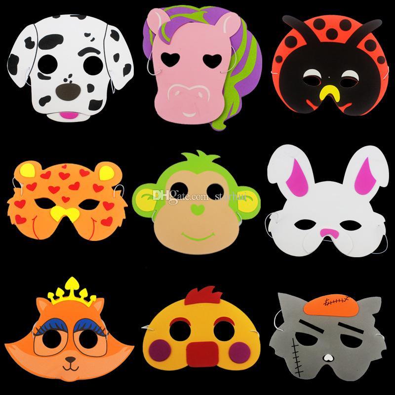 Halloween Party Animal Mask EVA Foam Cartoon Costume Mask Children Adult Party Festive Dress Up Mask Christmas Gifts WX9-24