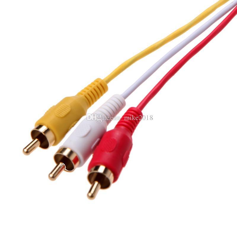 Top Qualität 5ft HDMI Stecker auf 3 RCA Video Audio AV Kabel Adapter für TV HDTV DVD 1080 P