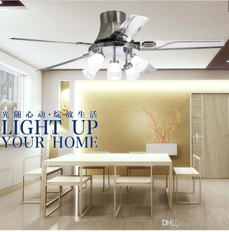 home living room fan light chandelier dining room remote control fan lights 52inch ceiling chandelier fan light LED