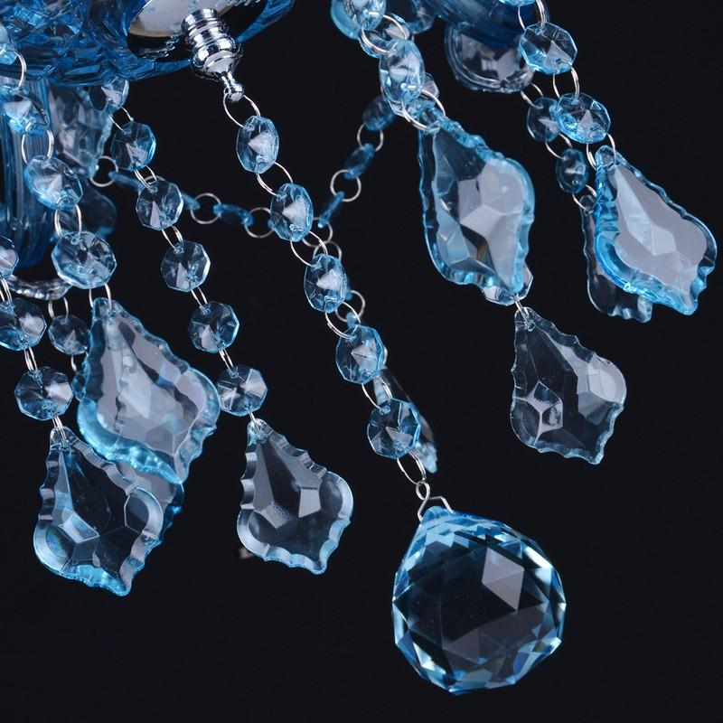 Personalidad moderna Lujoso color azul Maria Theresa Lámpara de araña de cristal Decoración del hogar lampadario Iluminación del restaurante