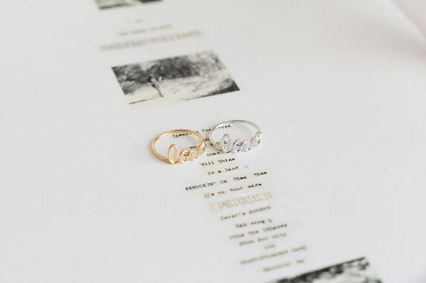 La nouvelle tendance de la marée amour romantique plaqué or argent plaqué or rose bague vente en gros de haute qualité anneau