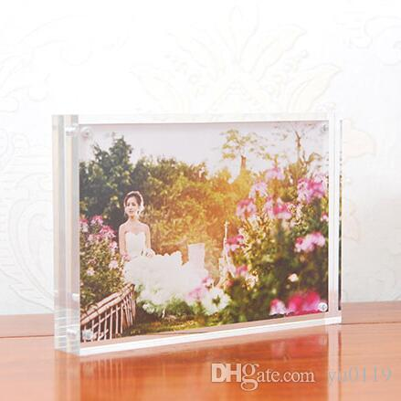 6 Inches 152x102mm Acrylic Plexiglass Magnet Photo Frame European ...