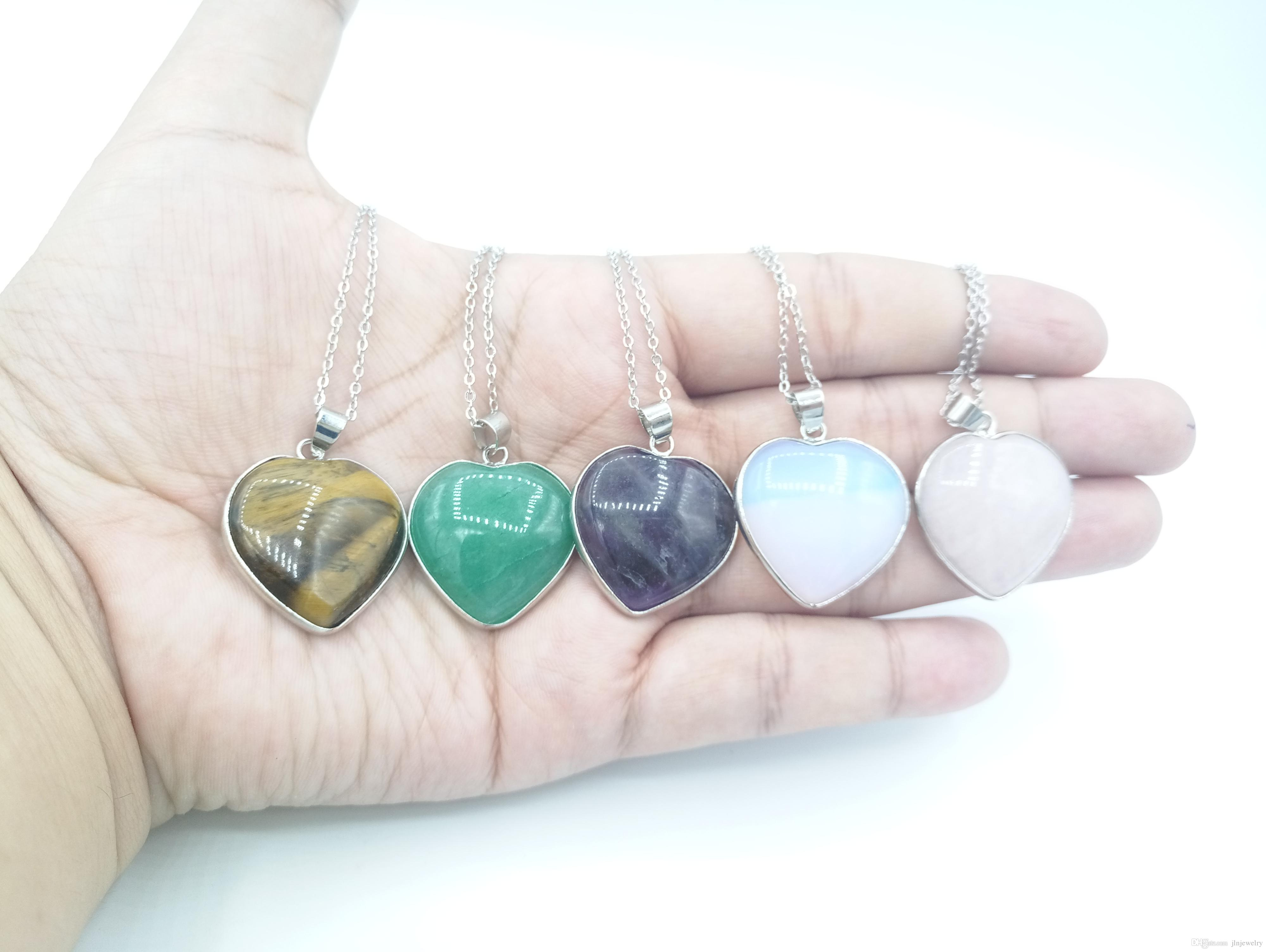 Jln gemstone heart shape stone pendant rose quartzgreen aventurine jln gemstone heart shape stone pendant rose quartzgreen aventurineamethysttiger eyemoonstone with brass chain stone heart pendant gemstone pendant heart mozeypictures Image collections