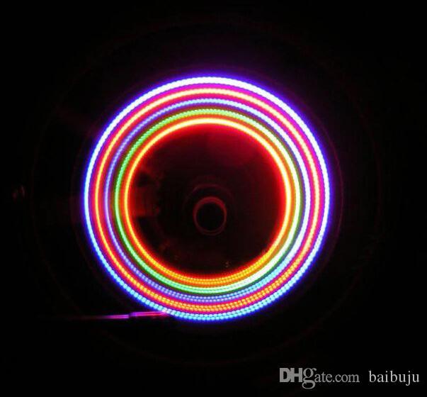2x 5 LED Fahrrad-Reifen-Rad-Ventil-Lampe 2016 Fahrradblitz führte Lichter freies Verschiffen