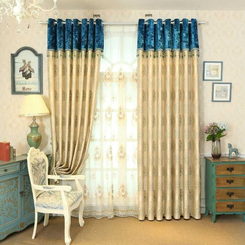 Nicety Curtains Simplicity European Style Living Room Window Curtain  Valance Curtain Multi Colors Printing Patterns Sold