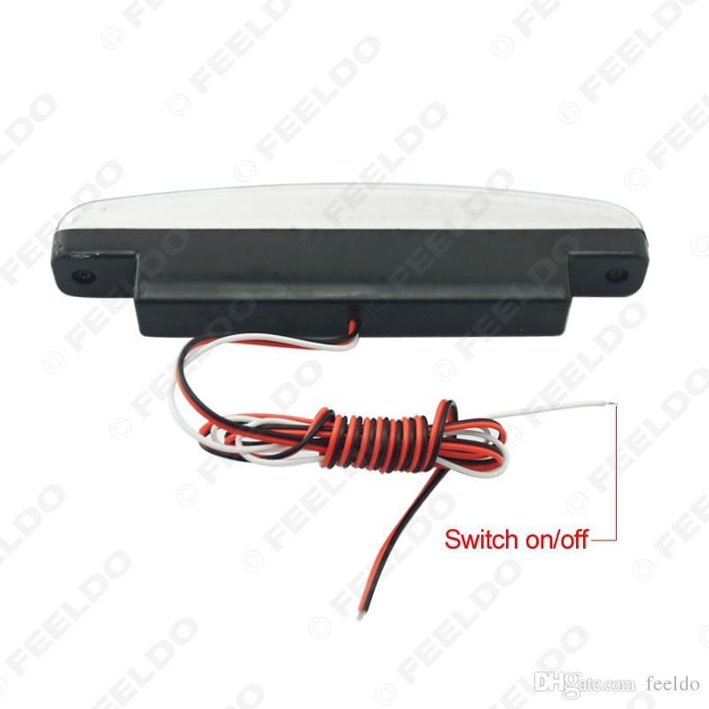 FEELDO Interrupteur automatique blanc ON / OFF Projecteur antibrouillard Euro Car DRL Projecteur lumière de jour # 2467