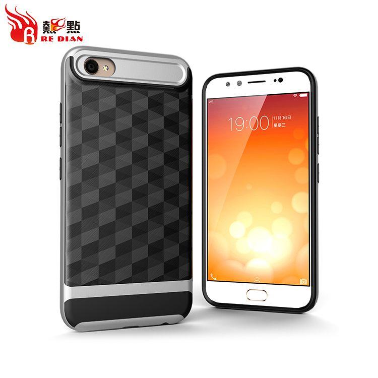 Antichoc Anti-poussière 2 en TPU Brush Prism Motif Cas de téléphone portable pour Vivo X9 Afficher votre propre personnalité