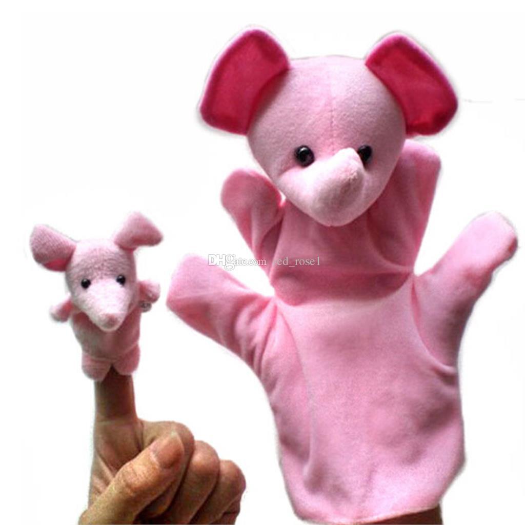 2017 아기 봉 제 인형 장난감 만화 행복 한 가족 재미 교육 손가락 인형 인형 아이 교육 인형 장난감 선물 / 공장 직접