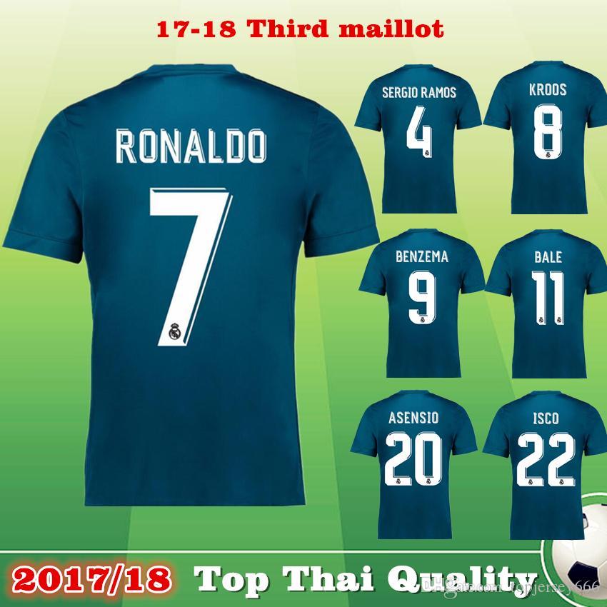 84233da4e 2018 Real Madrid 2017 18 3rd Blue Ronaldo Soccer Jersey 17 18 Kroos