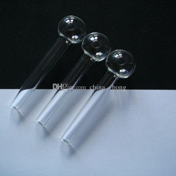tuyau de verre clair verre brûleur à mazout verre tube verre tuyau huile ongles verre tuyau d'eau tuyau 12 cm et 10 cm