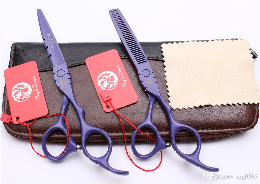 """Z1010 6"""" 17.5cm Japan 440C Hot Sell High Quality Professional Human Hair Scissors Cutting Thinning Shears Barbers' Hairdressing Scissors"""