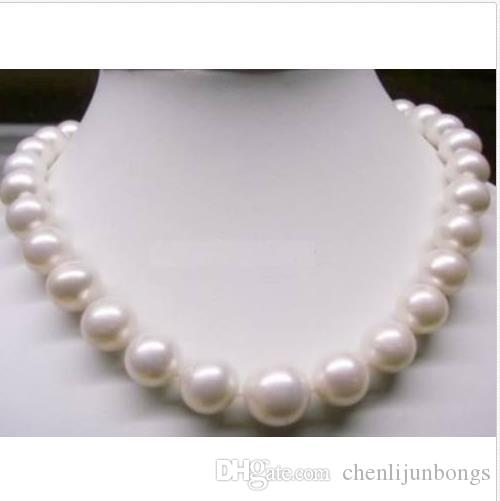 18inch AAA 10-11mm south sea white natural pearl necklace white Gold Clasp