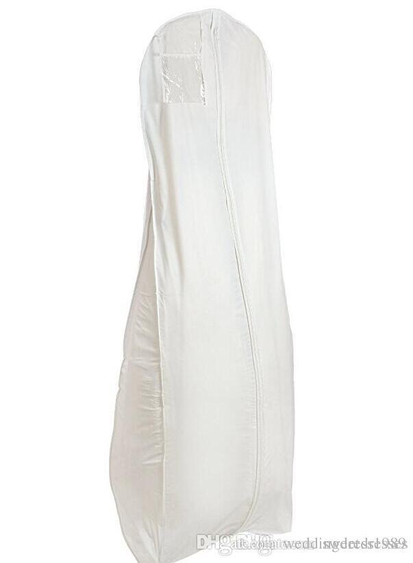 Cheap White Breathable Wedding Dress Dust Garment Bag For Prom ...