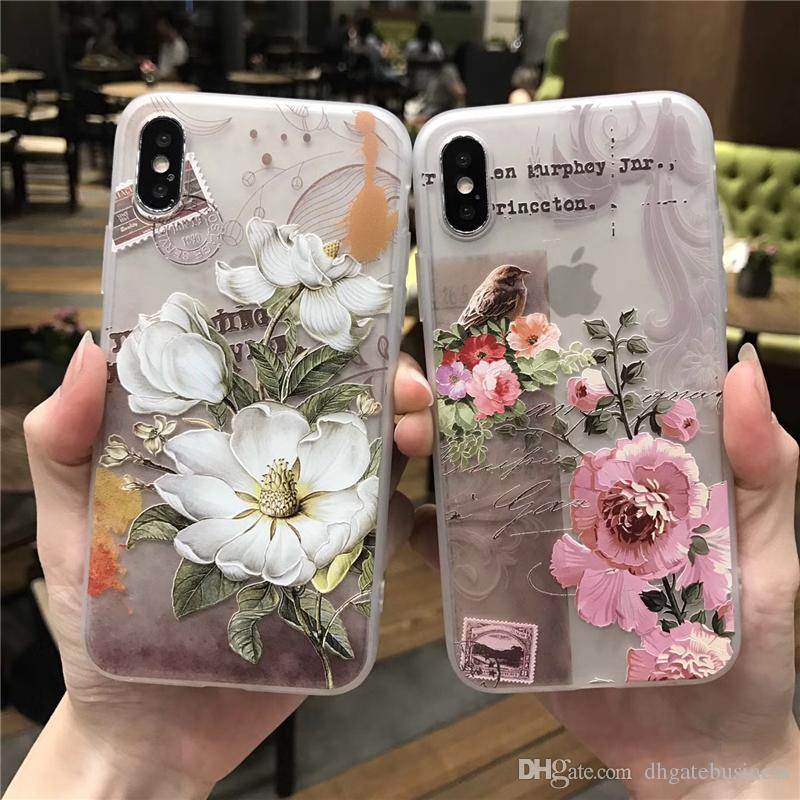 info for c0129 f0d55 3D Relief Flower For iPhone X Case Cover Silicone tpu Soft Phone Cases For  iPhone 8 7 6 6s Plus 8plus X Translucent Coque