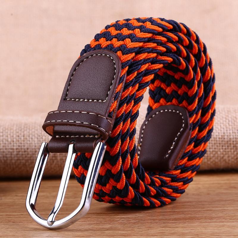 Compre Cinturones Tejidos De Lona Para Hombres Cinturón Elástico De Hebilla  De Correa Elástica Para Hombres A  628.42 Del Jianaysheng11  e9e5b4557b9f