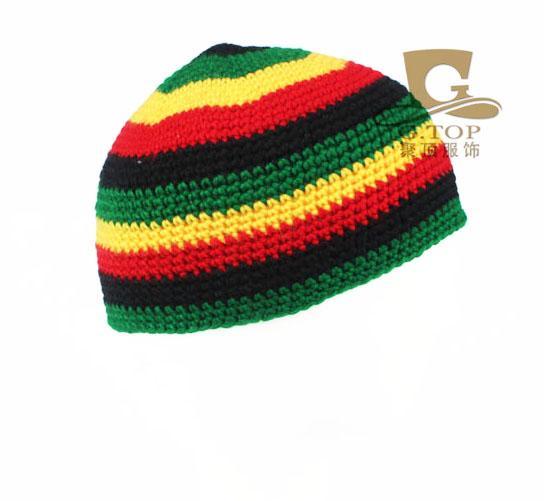 Großhandel Jamaikanischer Rasta Hut Bob Marley Hut Jameican Hut Tams Kostüm  Kostüme Häkelarbeit Rasta Beanies Gorro Bob Marley Von Gathertopfashion 04a3409618c