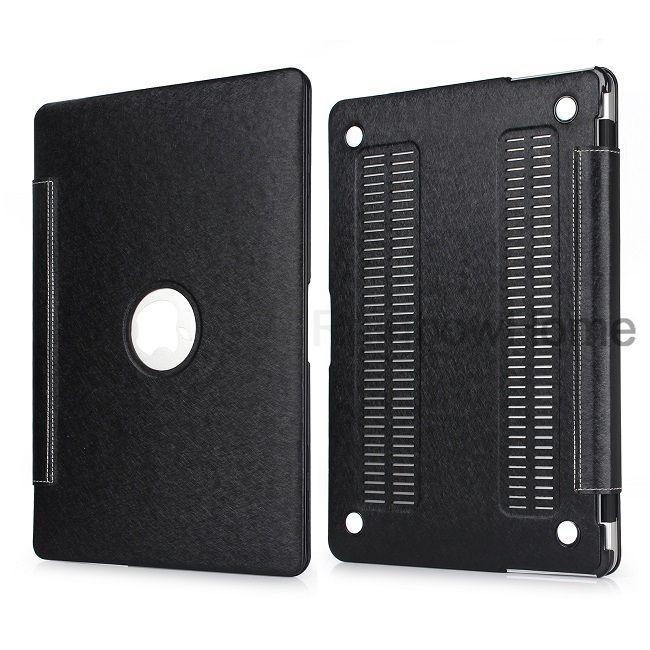 PU-Leder-Haut-Plastikkasten Schutzhülle Abdeckung für Macbook Air Pro 11 12 13 15 Zoll Hard Cases Vorderseite Rückseite Integrierte