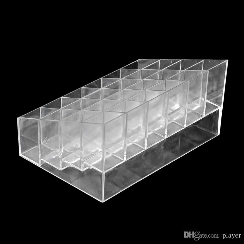 24 Lipstick Holder Display Stand Clear Acrylic Cosmetic Organizer Makeup Case Sundry Storage makeup organizer organizador Brand free ship