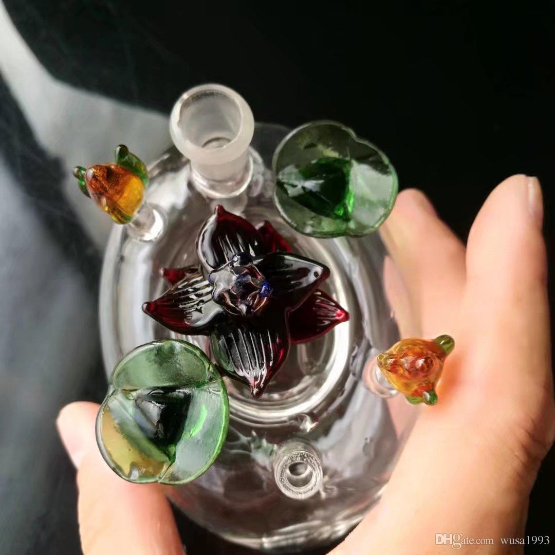 Flower bed glass hookah pot , Wholesale Glass Bongs Accessories, Water Pipe Smoking,