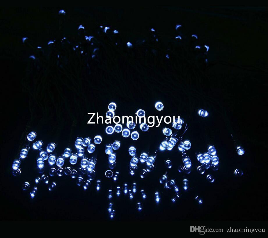 100 LED 200 LED extérieure 8 Modes Solaire Guirlande Garden Party de Noël Lampe Fée 10M 22M