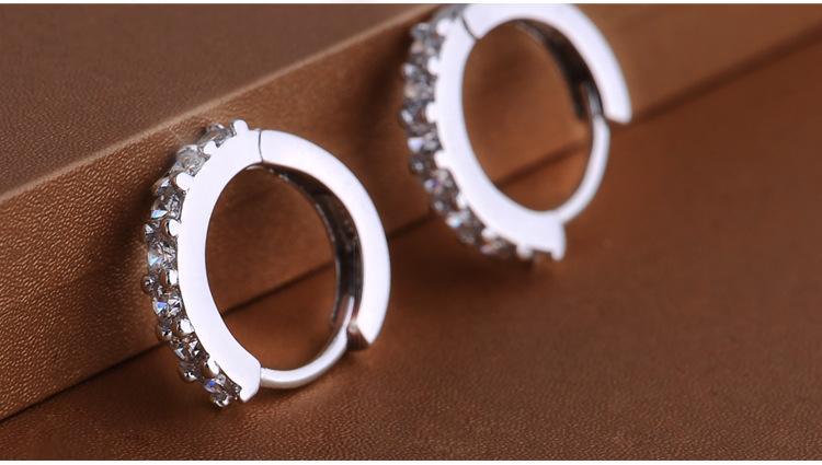 925 pendientes de aro de plata esterlina con zircón regalo de compromiso de joyería de moda para las mujeres envío gratis buena calidad