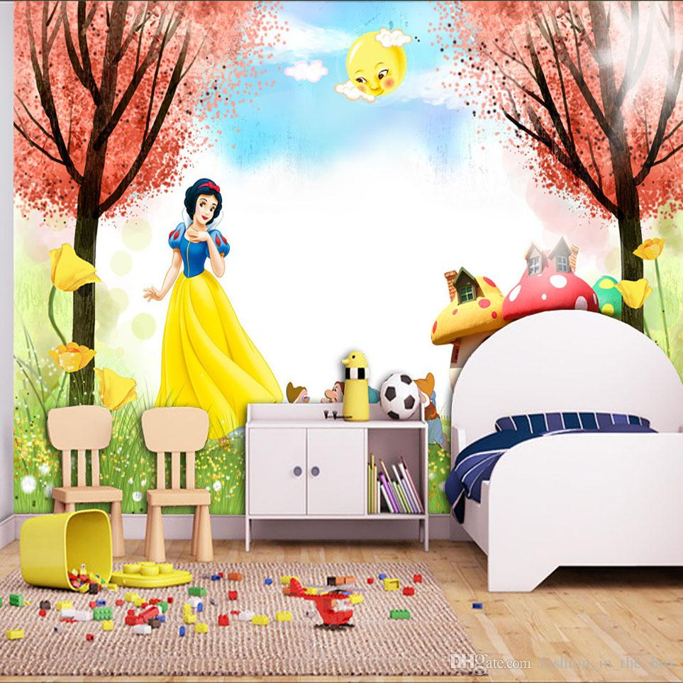 Cartoon 3d Wallpaper Snow White Photo Wallpaper Princess Wall Mural  Interior Decoration Girls Bedroom Living Room Hotel Art Room Deocr Trees  Wallpapers ... Part 14