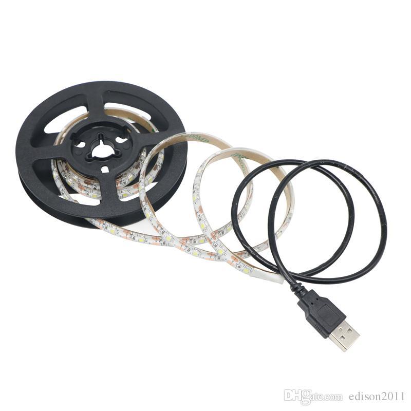 La bande d'USB SMD2835 LED IP65 imperméable 5V 1Meter / Reel 60led Noël blanc flexible a mené l'éclairage de fond des lumières de bande TV