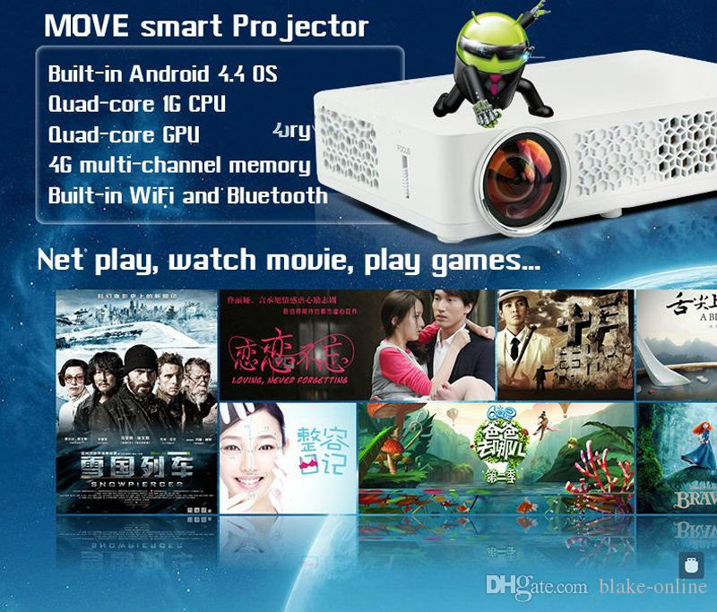 Portable Smart Android Wifi HD 1080P Engineering Business DLP Projector 800WM Proyector XBOX Blue-ray Player Mobile Game Projection