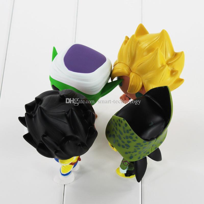FUNKO 팝 드래곤 볼 Z 손 고쿠 베지테라 피콜로 셀 PVC 액션 피규어 소장 모델 장난감 소매