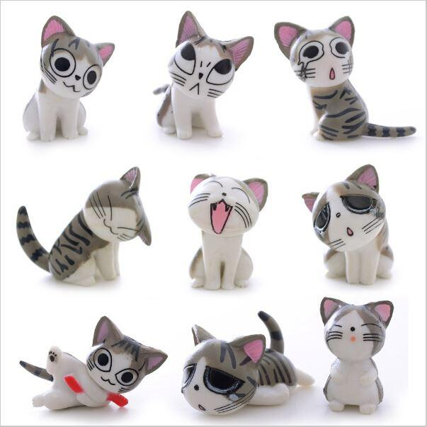 2018 multi color micro cute kitty mini chis chi sweet home figures dolls cat kitten emoji decoration model toys action figure doll from qisong306
