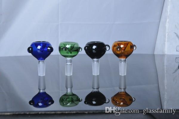 Date COLORÉ conception 14.5mm ou 18.8mm bol en verre pour barboteur de verre et Ash Catcher verre fumant bol