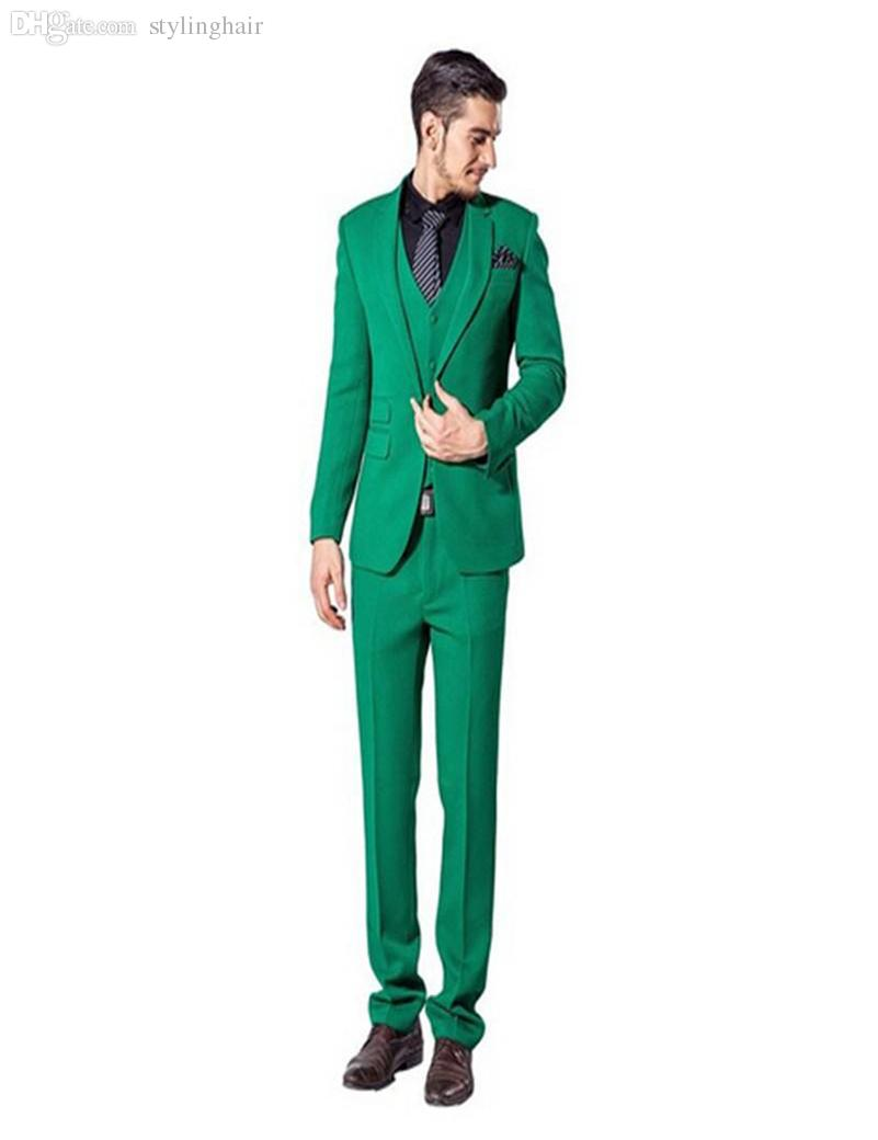 2018 Wholesale 2016 New Arrival Tuxedos Green Groomsmen Best Man ...