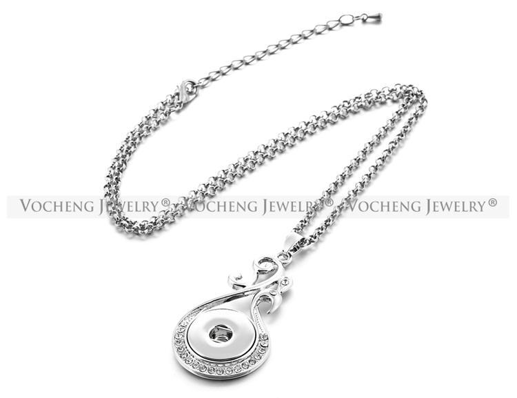 NOOSA Ginger Snap Necklace 18mm Botón colgante de joyería con cadena de acero inoxidable NN-404