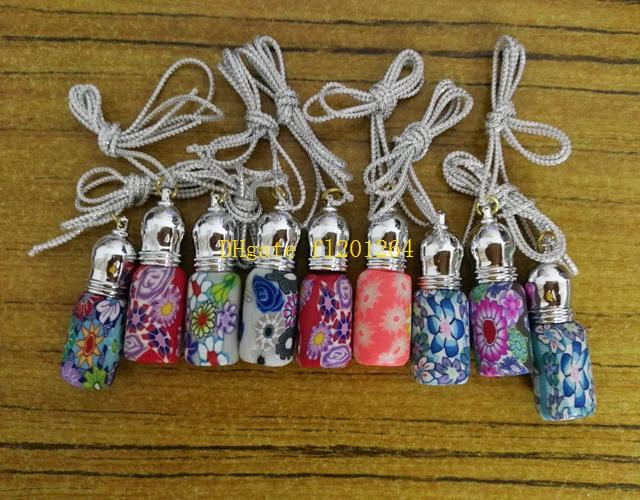 / Livraison Gratuite En Gros 3ML Bouteilles De Parfum En Argile Polymère Vide Bouteille à Billes En Forme De Pendentif
