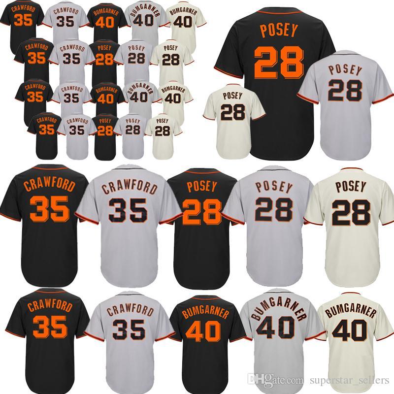 9cc1369eb 2018 Men Jersey  28 Buster Posey 35 Brandon Crawford 40 Madison Bumgarner  Cool Base Embroidery Logos Baseball Jreseys From Superstar sellers