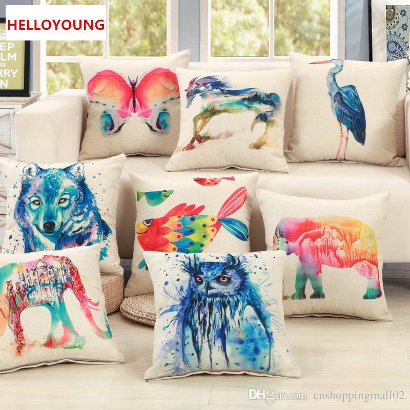 BZ107 Luxury Cushion Cover Pillow Case Home Textiles supplies Lumbar Pillow animal world decorative throw pillows chair seat