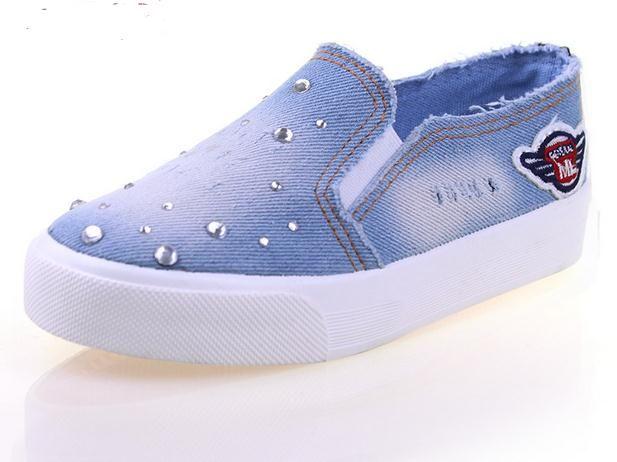 Scarpe Scarpe A 18 68 Ragazze Bambini Sneakers Da Da Ginnastica Elastica Jeans Bambino Moda Acquista Scarpe Banda Dal Bambini Da Casual Basse Piatte Denim BqP1FxI