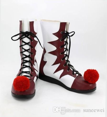 Stephen Kings It Shoes Pennywise Clown Joker Cosplay Boots Halloween Costume