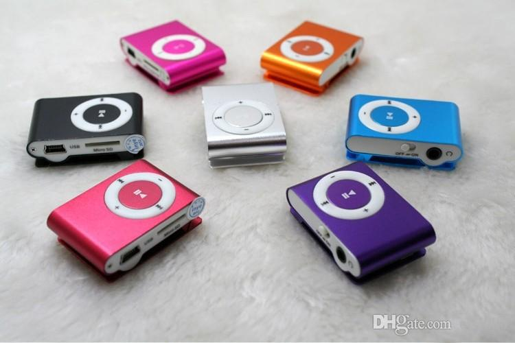Wholesale Mini Clip MP3 Players With TF Card Slot Electronic Products  sports Metal mini Music Player Free shipping