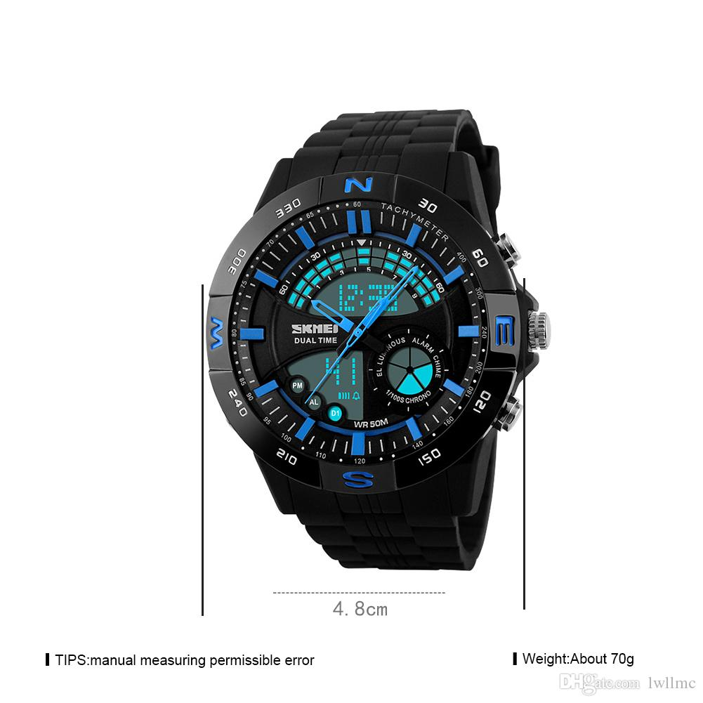 male analog watches digital wristwatch men led synoke quartz watch clock boy waterproof sports pp