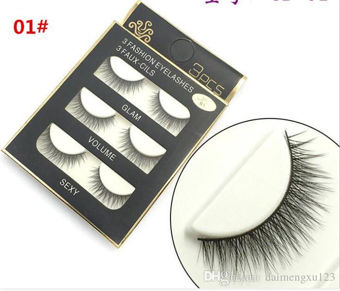 3d المنك الشعر الرموش الصناعية 8 أنماط اليدوية الجمال سميكة طويلة لينة المنك جلدة وهمية رموش رمش مثير x036